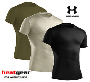 Under armour tactical heatgear t shirt black sand olive for Under armor tactical t shirt