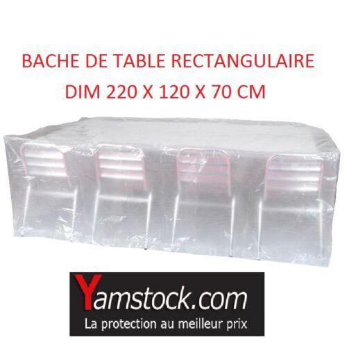 Bache Housse de protection pour table rectangulaire 220x120x70cm