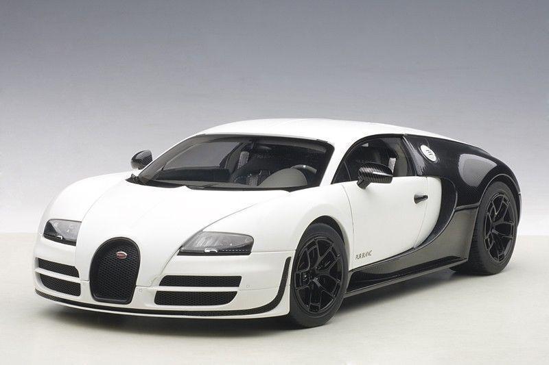 1:18 Autoart Bugatti Veyron 16.4 Super Sport Pura Blanc Edición (Mate  Negro
