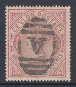 Ceylon-SG-201-Sc-142-used-1887-1r12c-dull-rose-QV-wmkd-Crown-amp-CC-sideways