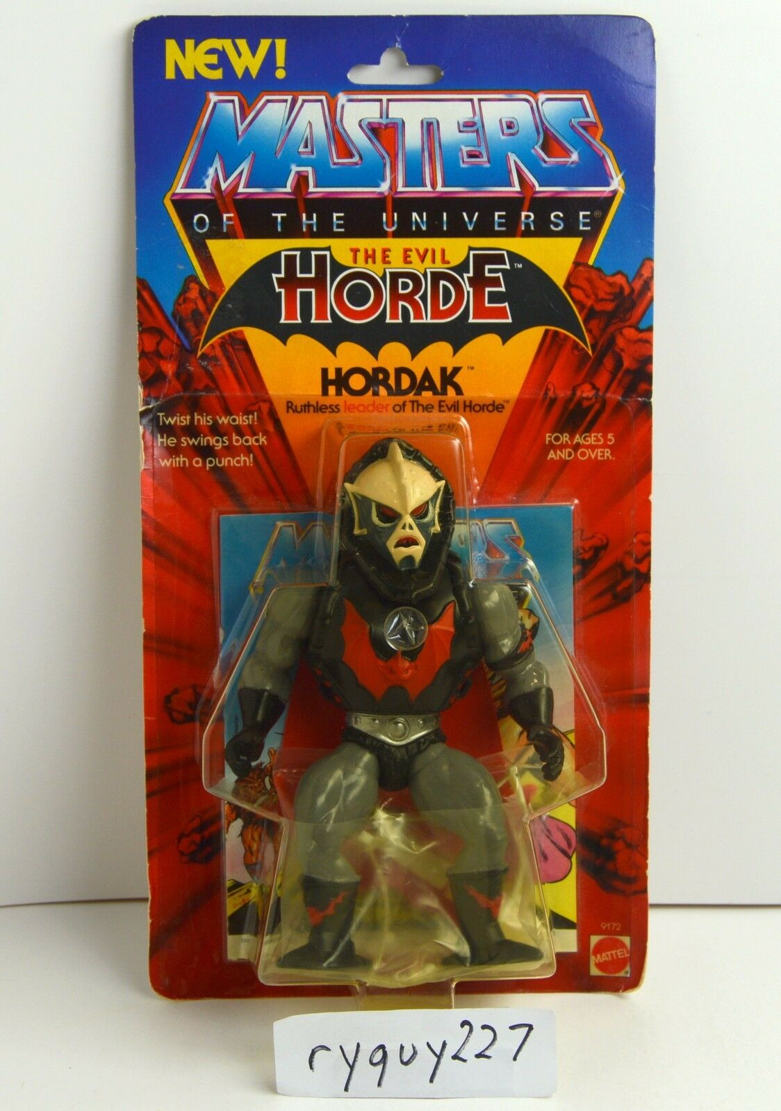 MOTU, Hordak, ROT Ribs vents, Masters of the Universe, MOC, carded figure sealed