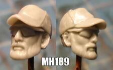 "MH034 Custom Cast Male head use w//3.75/"" Star Wars GI Joe Marvel Universe figure"