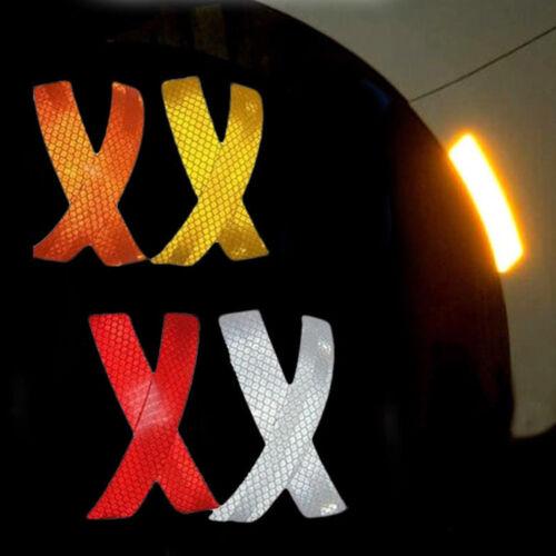 Car Reflective Strip Stickers Night Door Sticker Auto Bumper Warning Strip Decal
