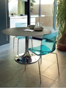 Dettagli su 4 Sedie Leg-B vari colori colorate design nuove trasparente  cucina soggiorno