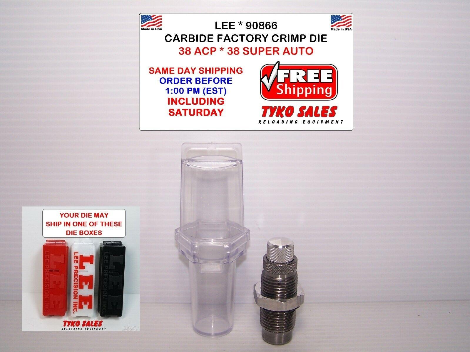 Lee Carbide Factory Crimp Die .38 Super 90866