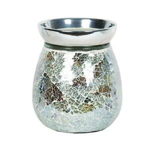 Gold-amp-Silver-Crackle-Electric-Wax-Warmer-Burner-amp-10-Scented-Melts-3143