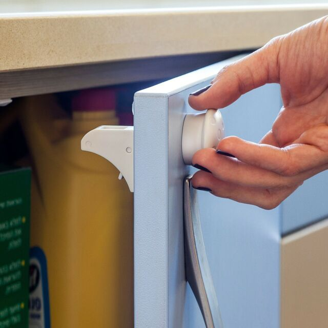 Magnetic Baby Safety Locks For Cabinets U0026 Drawers   Baby Proof U0026 Easy  Install.