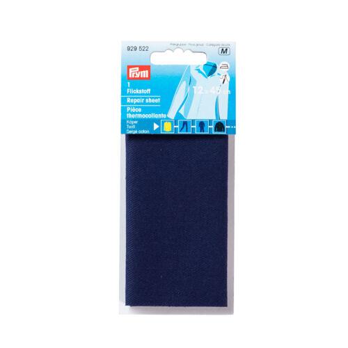 135€//m² Prym Flickstoff Köper aufbügelbar 12 x 45cm für Jeans blau 929522