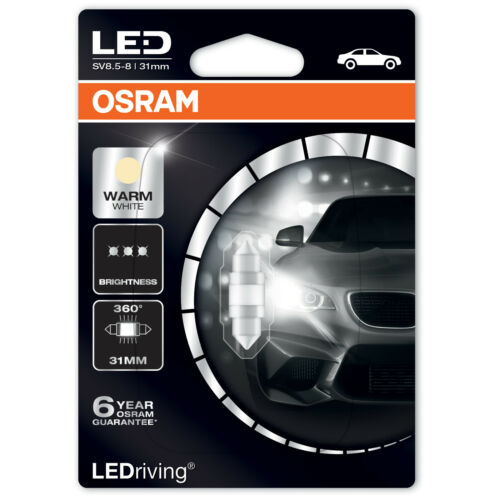 4000K /& 6000K Osram C5W LEDriving 31mm Festoon Car Bulb Single Bulb