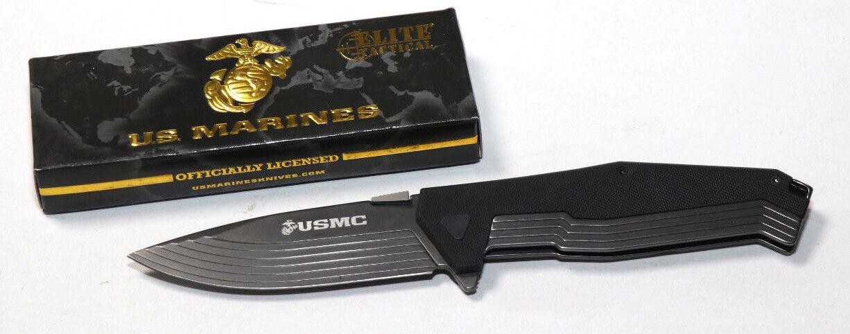 U.S. Marines Taschenmesser USMC-1315 schwarz G10 cnc overlay Griff  | Erste Qualität