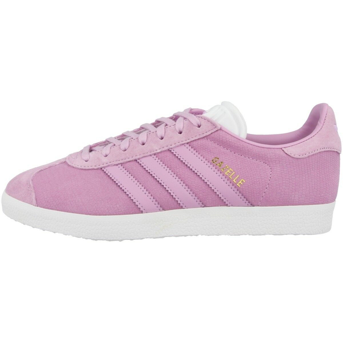 Adidas Gazelle Women Originals Trainers shoes Transparent purplec White