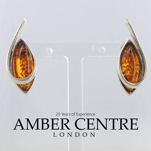 Elegant and Discreet Baltic Amber Stud Earrings 925 Silver ST0047 RRP£12!!!