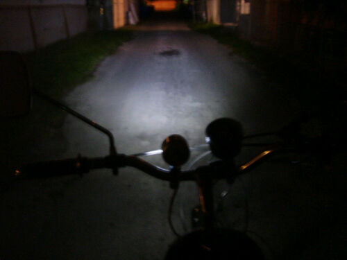SUPER BRIGHT 7.2 VOLT LED HEADLIGHT /& Mini-Generator For for Motorized Bikes