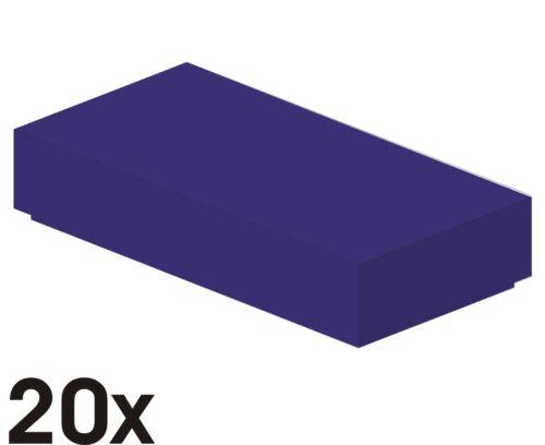 Art. 3069b 20 Stück NEUE 1x2 Fliesen in dunkelviolett 409