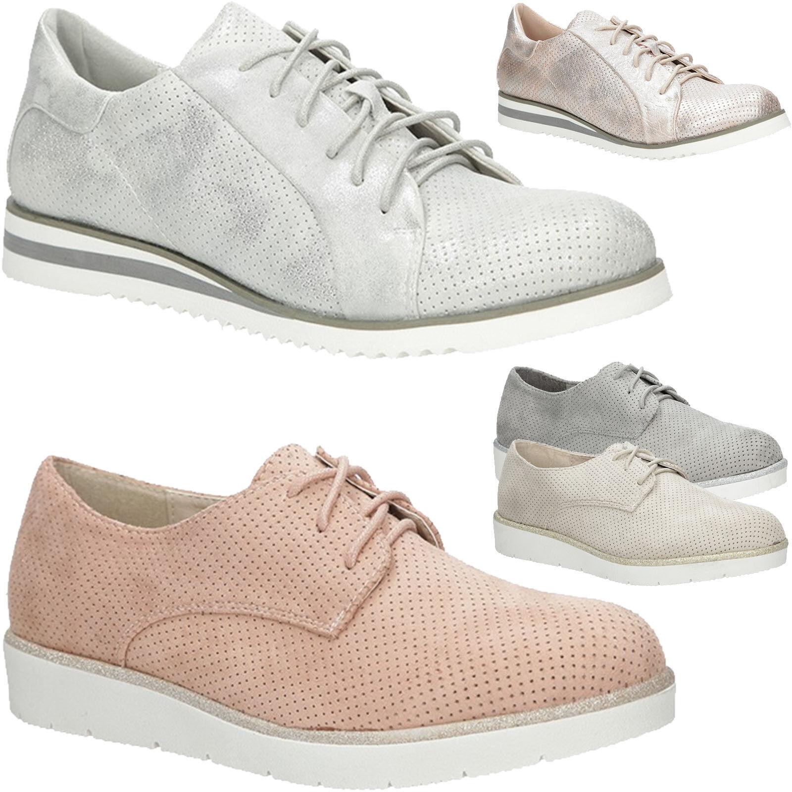 Damen Halb zapatos Beqeum  Plateau Keilabsatz Schnürer Elegant Beqeum zapatos Gr. 36-41 NEUHEIT 712464