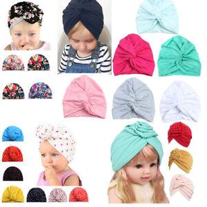Cute Newborn Toddler Kids Baby Boy Girl Turban Cotton Beanie Hat ... bd9e054d80e9