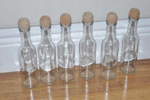 Lot of 6 Empty Glass Bottles, Crafts, message in a bottle, Art, Wedding invitati