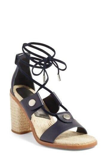 New Rag & Bone Eden Block Heel Sandal Navy Dimensione 38.5 EU   8.5 US MSRP  450