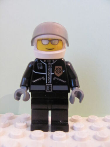 LEGO Minifig cty027a @@ Police City Leather Jacket Gold Badge /'POLICE/' 7279 7288