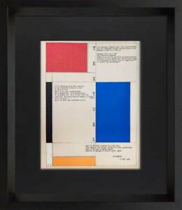 Piet-MONDRIAN-Lithograph-Limited-Edition-Sign-Custom-FRAME