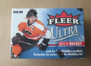 2014/15 Upper Deck Fleer Ultra Hockey Blaster Box with 8 Packs