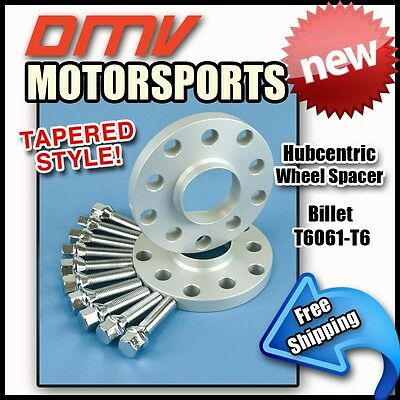 5MM Hubcentric Wheel Spacers+Silver Tapered Bolts For BMW 5x120 72.5 12x1.5