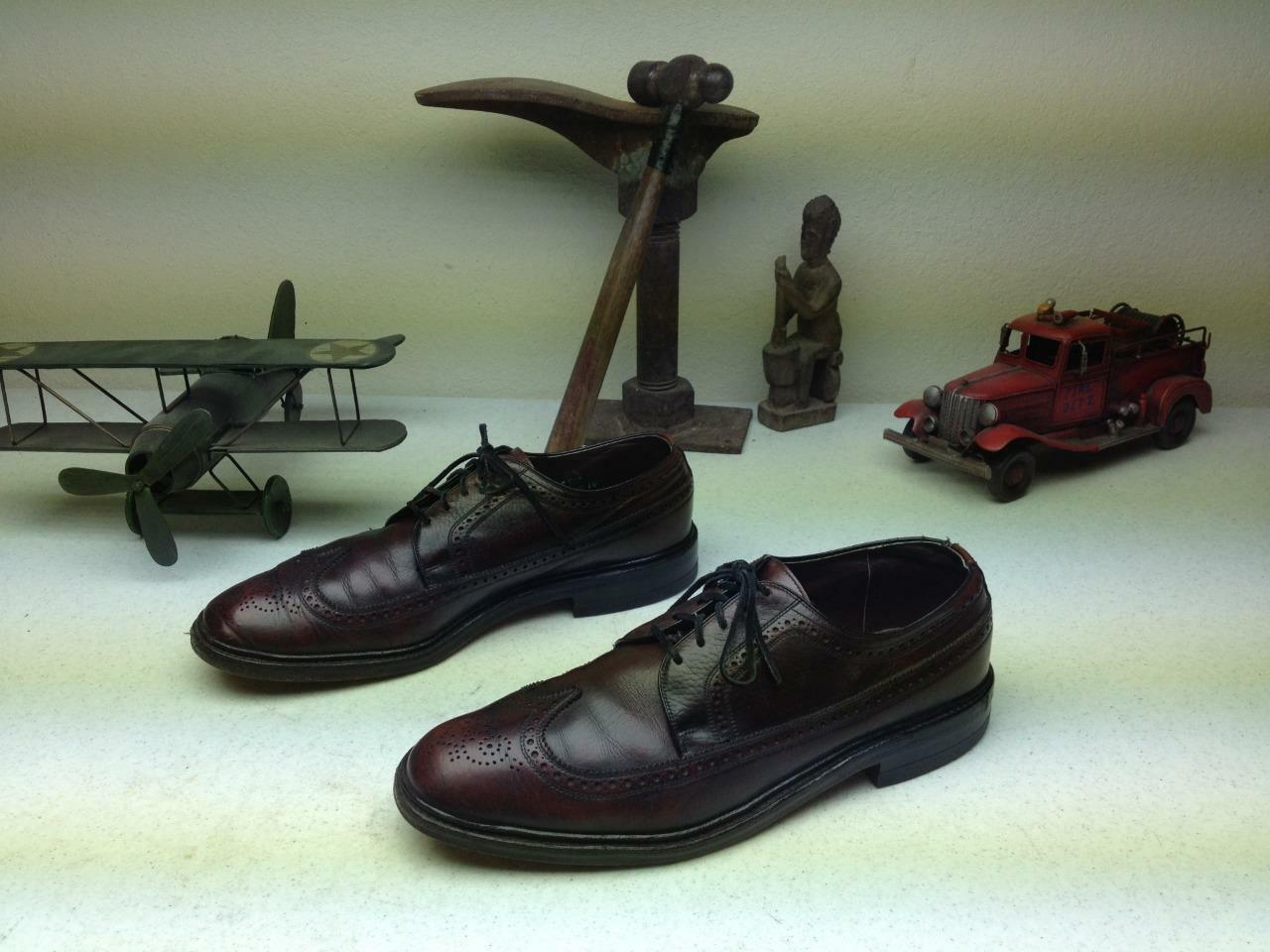 MADE MADE MADE IN USA DISTRESSED OXBLOOD BURGUNDY WING TIP LACE UP BUSINESS POWER schuhe11D 285b67