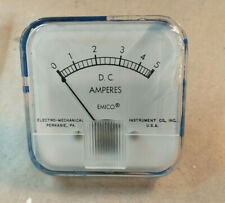 Emico Dc Amperes Panel Meter Analog 0 5 Amps Electro Mechanical Fast Shipping