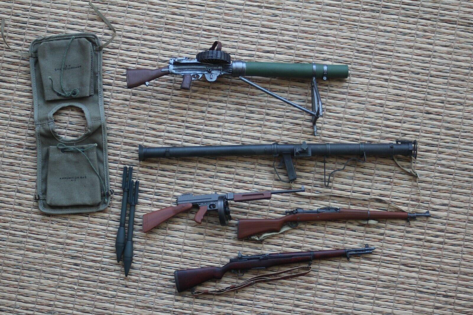 1 6 Lote armas USA WWII bazoka, subfusil thompson rifle garand sprinfield