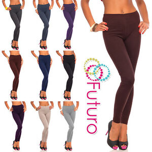 Womens-Leggings-Cotton-Full-Length-Sizes-8-28-NOT-SEE-THROUGH