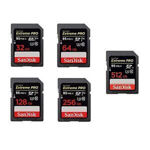SANDISK-SD-EXTREME-PRO-Scheda-di-Memoria-SDHC-32-64-128-256-512-GB-Classe-10-U3