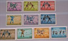 AFGHANISTAN 1961 530-39 496-05 Kinderspiele Sport Child Games Wrestling MNH