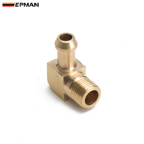 "2*Brass Boost Hose 90 Degree Elbow Fitting For Garrett T2 T3 Turbo 1//8/""Male NPT"