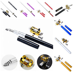 LOWEST-PRICE-GOLD-Pen-Fly-Fishing-Rod-Mini-Portable-Pocket-Pole-Reel