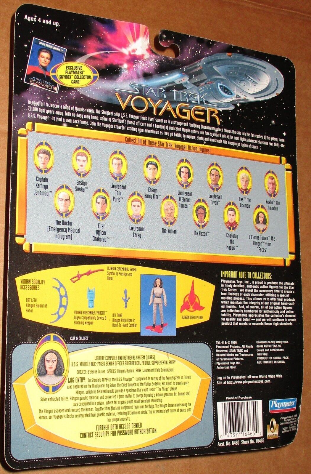 000002 Star Trek B'Elanna Voyager Niedrig Number B'Elanna Trek Torres Klingon MOC 1996 Playmates 70e505