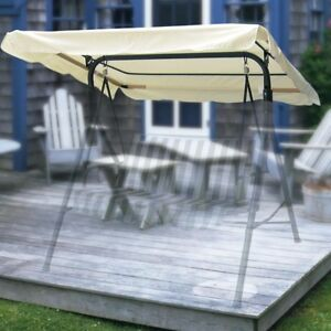 76-034-x44-034-Swing-Canopy-Cover-Replacement-Outdoor-Garden-Patio-Porch-Seat-Top-White