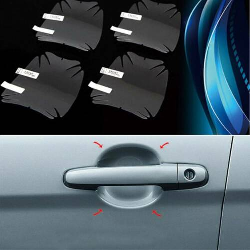 Car Door Sticker Body Handle Protection Film Scratches Resistant Cover 8Pcs