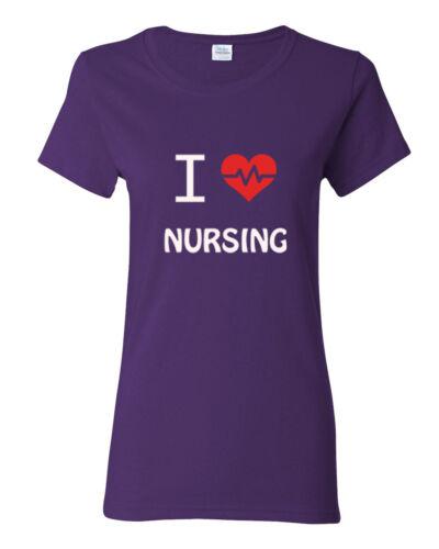 I love nursing  Cute Ladies t shirt