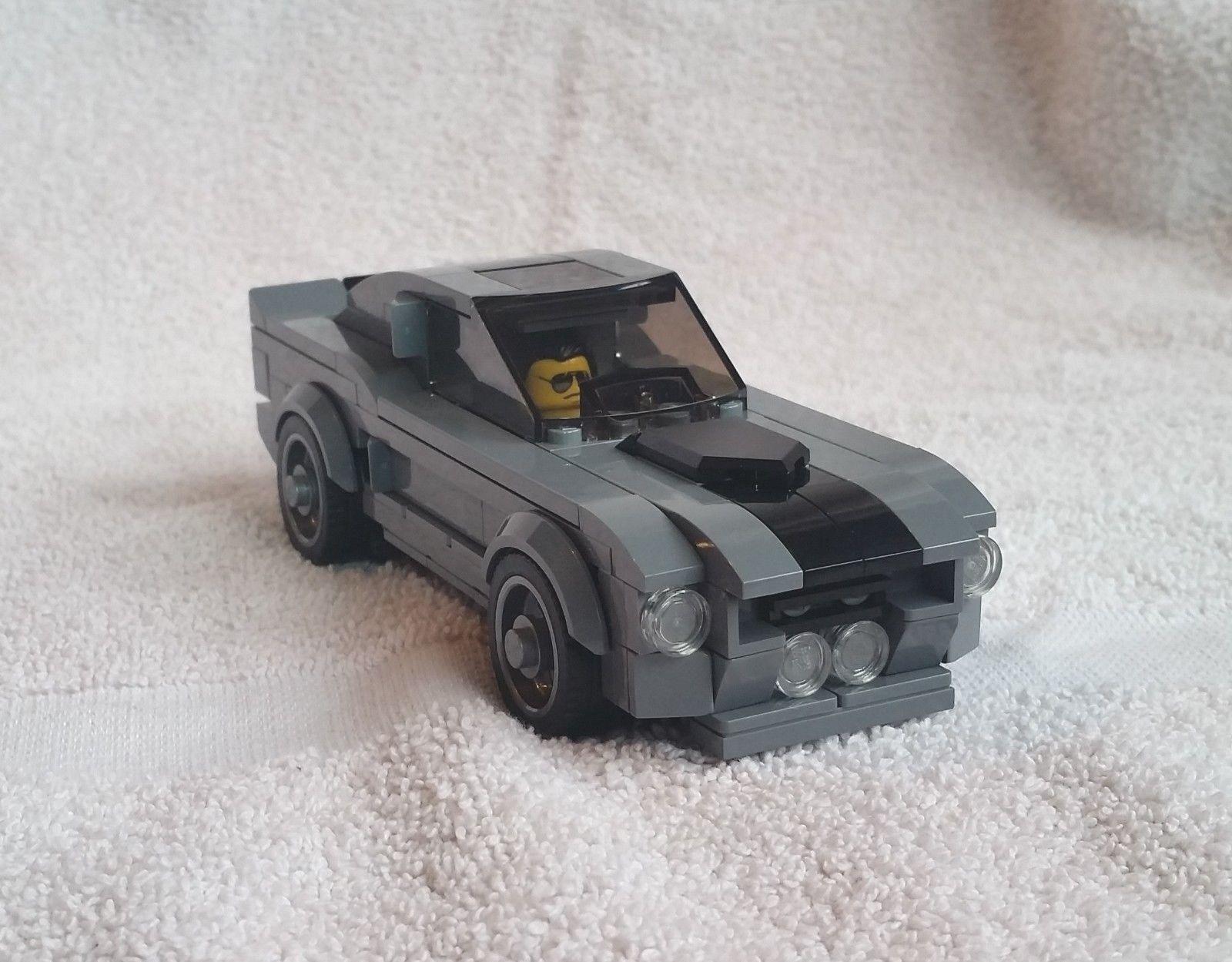 Juego de Lego Personalizado 67 Ford Mustang Fastback Eleanor ido Shelby GT500 en 60 segundos