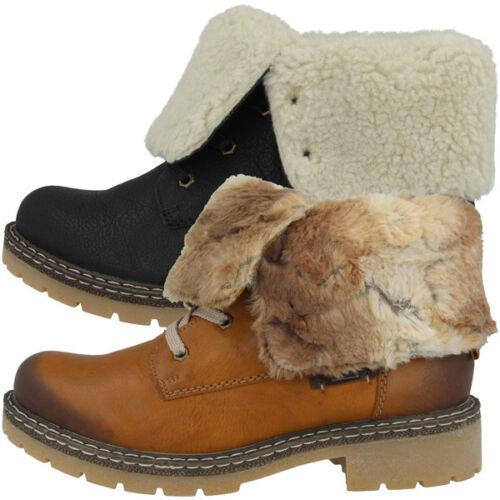 Rieker Ambor Schuhe Women Damen Stiefeletten Stiefel Winter Boots Schnürer Y1421