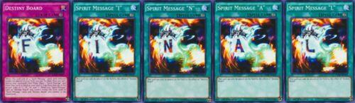 "Destiny Board /""N /""A +L/"" DPRP-041-42-43-44-45 set* YUGIOH Spirit Message /""I"