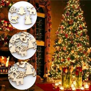 100PCS-Natural-Wood-Christmas-Decor-DIY-Xmas-Tree-Ornaments-Wooden-Hanging-Tips