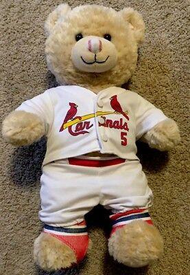 "Build A Bear Albert Pujols Plush St Louis Cardinals Brown Baseball 15/"" BABW"