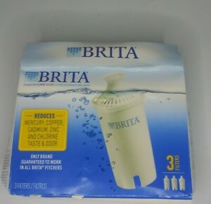 Brita-Water-Pitcher-Replacement-Filters-White-3-Pack-Brand-New-open-box