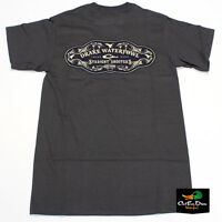 Drake Waterfowl Straight Shooters Logo Tee T-shirt Short Sleeve Charcoal Medium