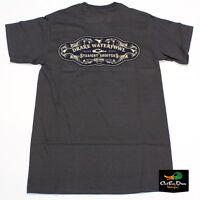 Drake Waterfowl Straight Shooters Logo Tee T-shirt Short Sleeve Charcoal Medium