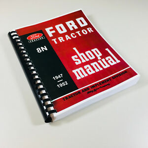 FORD-8N-TRACTOR-SERVICE-REPAIR-MANUAL-TECHNICAL-SHOP-BOOK-OVHL-2N-9N-COMPATIBLE