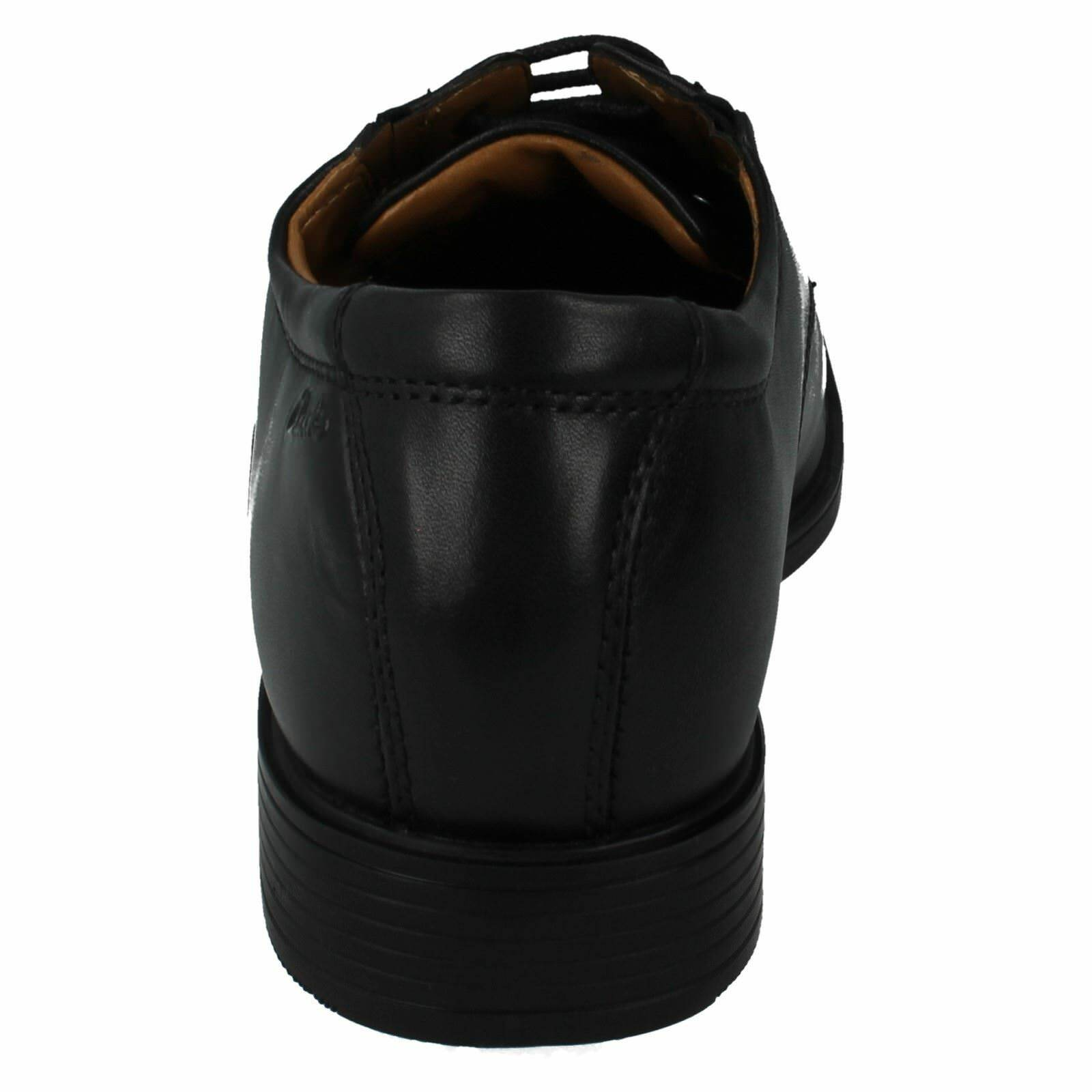 Mens TILDEN CAP Black by leather lace up shoes by Black clarks retail £49.99 b35d51