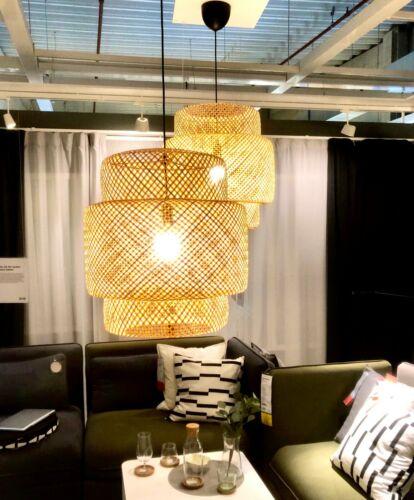 IKEA SINNERLIG Hängeleuchte Bambus weiches Licht Deckenleuchte Lampe NEU/&OVP A++