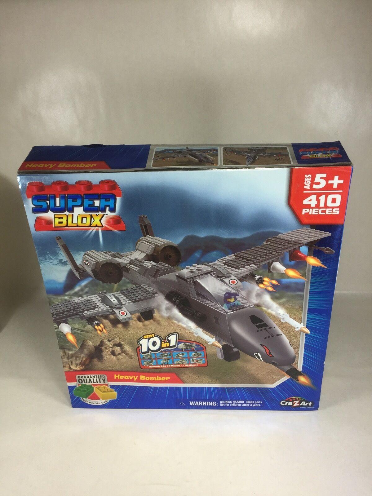 Car-Z-Art Super Blox Heavy Bomber - 410 Pieces Large Box OPEN BOX SEALED CONTENT